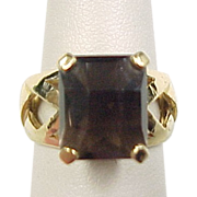 Vintage Gold Vermeil Smoky Quartz Ring