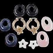 Vintage 14k Gold Hoop Earrings with 5 Enhancers!