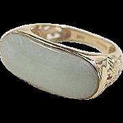 Vintage 14k Gold Dragon Jade Ring