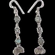 Vintage Sterling Silver Labradorite Earrings