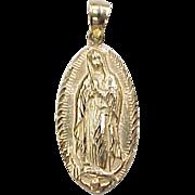 Vintage 14k Gold Virgin Mary Charm / Pendant