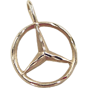 Vintage 14k Gold Mercedes Charm / Pendant