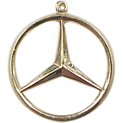Vintage 14k Gold Mercedes Benz Emblem Charm