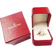 MIKIMOTO 14k Gold Cultured Pearl Ring