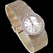 "Vintage 18k Gold .56 ctw Diamond OMEGA Ladies Dress Watch 7 1/4"""