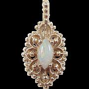 Vintage 14k Gold .37 Carat Opal Pendant