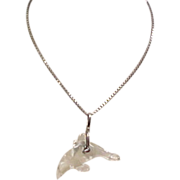 Sterling Silver Quartz Dolphin Necklace