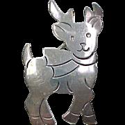 Vintage Sterling Silver Reindeer Pin / Brooch