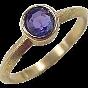 Vintage 21k Gold Sapphire Ring