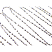 """SALE Vintage Sterling Silver Super Long Layering Oval Bead Chain ~ 88"""" ~ 33.8 ..."""
