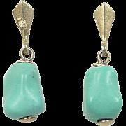 Vintage 14k Gold Turquoise Earrings