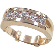 Vintage 14k Gold .70 ctw Diamond Ring ~ Arthritic Shank