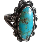 Turquoise & silver Ring South Western Style