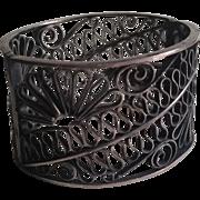 Russian Filigree Napkin Ring 875 Silver