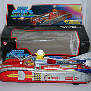 Astonef Electrique Battery Operated Ship Space Car w/Box