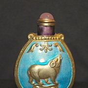 Vintage enamel Chinese snuff bottle