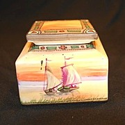 Nippon Inkwell with Boat Design