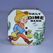 """Kalon """" Daily Dime Bank"""" Cowboy Register Bank"""
