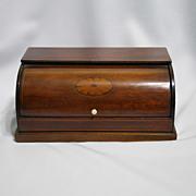 Nineteenth century mahogany writing box (inkstand) with marquetry