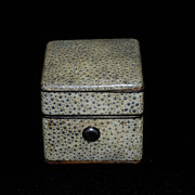SALE 19th century Shagreen Traveling Inkwell