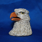 Figural metal inkwell – Eagle head