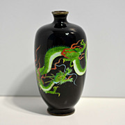 Japanese Cloisonné Vase with Gin-Bari Dragon