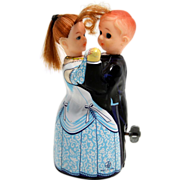 SALE PENDING TPS Dancing Couple Tin Windup