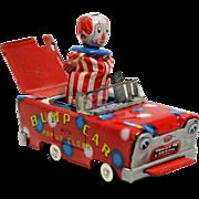 Wakasuto  Friction Tin Bump Car with Pop Up Clown