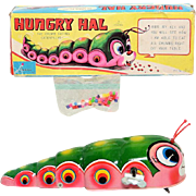 SALE PENDING Haji Hungry Hal Caterpillar Windup with Box