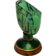 Early 1900s Glass and Guilloche Cigarette Holder