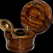 Turned Wood Traveling Inkwell – Milk Bucket