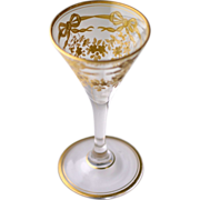Gold enameled sherry or cordial glass