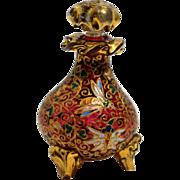 Bohemian Cranberry Enameled Perfume Bottle