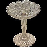 American Brilliant Cut Glass Tall Compote or Comport
