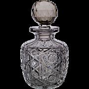 American Brilliant Period Cut Glass Bottle