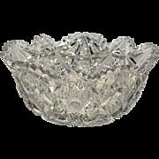 American Brilliant Cut Glass Libbey Colonna Pattern Bowl