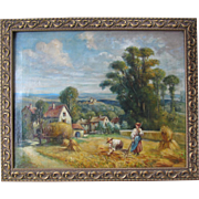 Farm Scene Oil Painting On Canvas Landscape Art