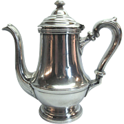 Single Serve Oriole Cafeterias Teapot Silver Soldered by International Silver Co.