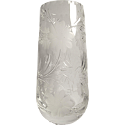 Thomas Webb Clear Cut Crystal Vase England