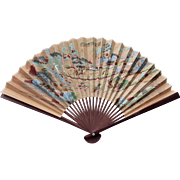 Oriental Paper and Bamboo Wall Fan