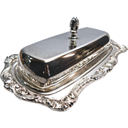 Old English Silver-Plate Covered Butter Dish By Poole # 5011