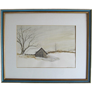 "REDUCED Original Water Color Painting ""Spring House At Concordville"" by Richard Carr"