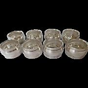 8 Dinner Napkin Rings Silverplate