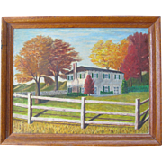 Country Art  Landscape Oil Painting on Canvas Autumn or Fall Colors