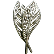 Double Leaf Brooch Made in W. Germany