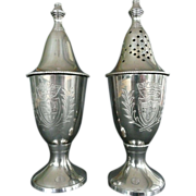 REDUCED Muffineer Silverplate Sugar and Flour Shakers