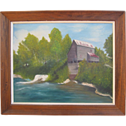 """Oil On Canvas """"Mill Of The Ozarks"""" by W. Keenum"""