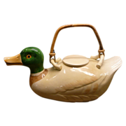 REDUCED Fitz and Floyd Duck Teapot Handpainted