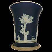 Dark Blue Jasper Ware Vase Wedgwood Made In England