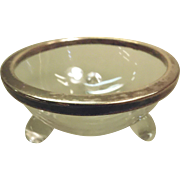 Glass and Silverplate Salt Cellar Footed